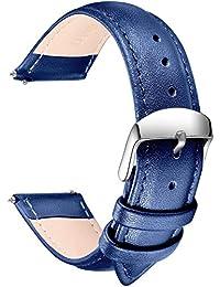 Damenuhr jacqueline leder blau