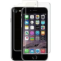 """iPhone 7,iPhone 8 (4,7"""") - 2 Films (1 avant + 1 arrière) en verre trempé résistant et fin - NOVAGO®"""