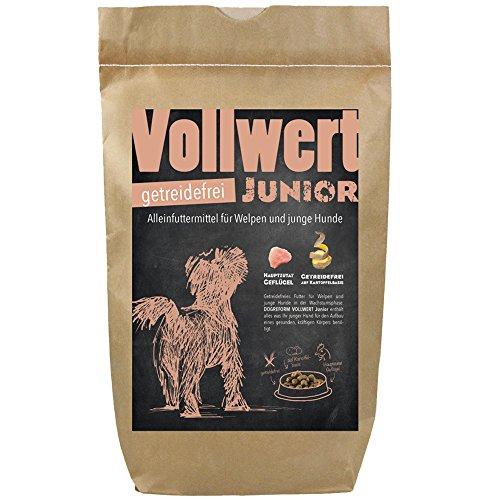 Schecker Dogreform VOLLWERT 6 kg Junior Trockenfutter Welpentrockenfutter getreidefreies Hundefutter für Welpen ohne künstliche Farb-, Aroma- oder Konservierungsstoffe