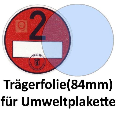 Durchsichtige Trägerfolie für Umweltplakette/Feinstaubplaketten 84 mm, NEU