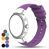 Bracelet de montre en gel de silicone pour Asus ZenWatch 3Smart Fitness Taille unique violet
