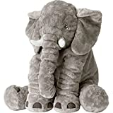 Elephant Pillow Baby Fluffy Giant Snuggle Elephant Plush Pillow Soft Toy Shower Gifts For Children Kids 24 Inches 1kg, Grey