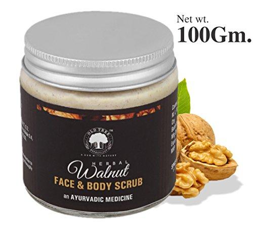 Old Tree Herbal Face and Body Exfoliating Scrub with Kashmiri Walnut and Kashmiri Almond Oil, 100g