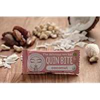 QUIN BITE Coconut; Raw fruit & nut bar; Quin Bite - The delicious raw bar! 12x30g