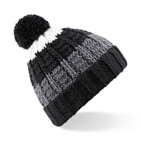 Beechfield - Bonnet tricoté à pompon - Adulte unisexe (Taille unique) (Noir)