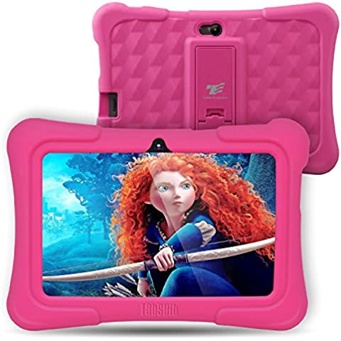 Dragon Touch Y88X Plus - Tablet Infantil de 7 Pulgadas ( SO Android Lollipop , 178? Vista Pantalla , 8G , Funda Alta Protección para Niños con Soporte ) Incluye Kidoz Versión Desbloqueada Pre-instalado , Rosa [ 2017 Modelo Nuevo