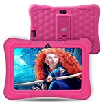 Dragon Touch Y88X Plus Kids 7 inch Tablet(Pink - Quad Core, 1G RAM Wifi Bluetooth, Android 5.1 With Pink Silicone Adjustable Stand Case)