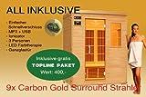 Ivar de 3Topline 3personas sauna infrarrojos y cabina de infrarrojos/1900W/calor infrarrojo cabina y muchos extras.
