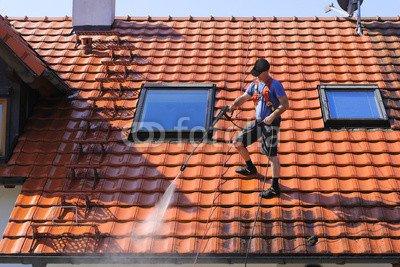 druck-shop24 Wunschmotiv: Dachreinigung mit Hochdruckreiniger #91936521 - Bild als Foto-Poster - 3:2-60 x 40 cm/40 x 60 cm
