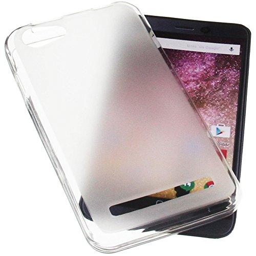 foto-kontor Tasche für Archos 40 Power Gummi TPU Schutz Handytasche transparent weiß