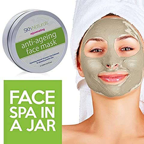 Clay Face Mask for Reducing Fine Lines & Wrinkles - 100% Natural Facial Mask with Collagen - Hydrating, Moisturising & Pore Reducing for Dry or Ageing Skin - Face Mask for Women, Men & All Skin