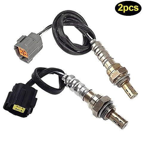 ROKOO 2 Pcs/ Set Front & Rear Oxygen O2 Sensor For 02 03 Mazda Protege5 2.0L Pre-Cat/Post-cat