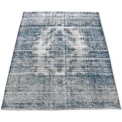 Pak Persian Rugs Handgeknüpfter Überfärbt Teppich, Schwarz, Wolle, 265 X 358 cm