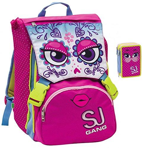 prezzo più basso 77432 9441e Sj Gang - Zaino Scuola SEVEN Sdoppiabile SJ Girl Faccine ...