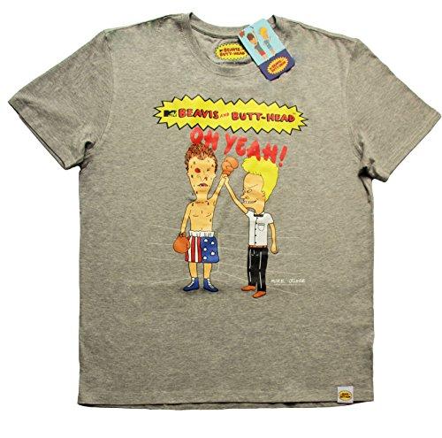 acts-mtv-beavis-and-butt-head-per-uomo-boxen-maglietta-da-uomo-grigio-taglia-s-m-l-xl-grey-grau-grey