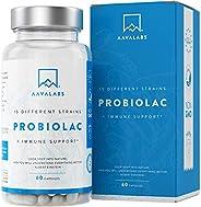 Probiótico [30 Mil Millones de UFC] - Fórmula de Amplio Espectro - 15 Cepas - Lactobacilos y Bífidobacterias -
