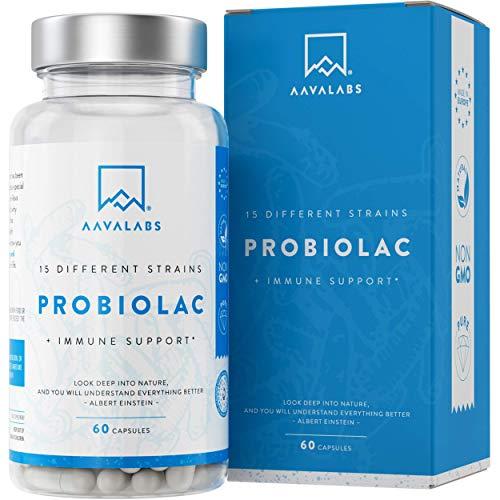 Probiótico AAVALABS de amplio espectro para un estómago feliz. Nuestro intestino cuenta con un equilibrio bacteriano propio que puede verse perjudicado fácilmente a causa de hábitos dietéticos, factores medioambientales y estilo de vida en general. L...