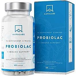 Fermenti Lattici Probiotici [ 30 Miliardi ] – 60 Capsule – 15 Formule ad Ampio Spettro di Ceppi Prebiotici – tra cui…