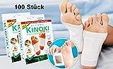 GKA 100 Stück (10 Packungen) Kinoki Detox Entgiftungspflaster Vitalpflaster zur Entgiftung als Fußpflaster Detox Foot-Pad Entgiften Pflaster Vitalpflaster Fusspflaster Entgiftungspflaster
