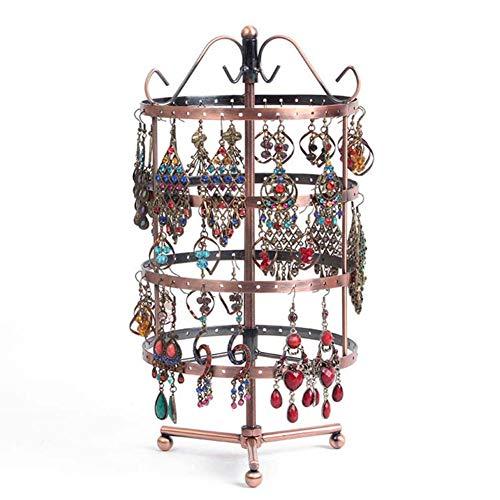 OOSM&H Runde Ohrringe Schmuckständer Schmuckständer Schmuck Requisiten,Bronze,A