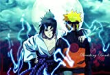 XWArtpic Klassische Naruto Sasuke Anime Dragon Ball Z Cartoon Comic Bild Kinderzimmer Dekor Wohnzimmer Poster wandkunst leinwand malerei 50 * 75 cm D