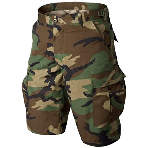 Helikon Genuine BDU Shorts Cotton Ripstop Woodland size M