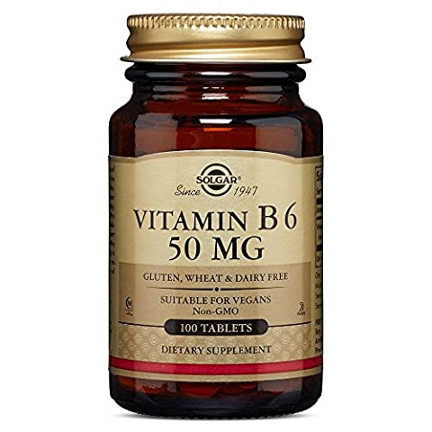 Solgar 50 mg Vitamin B6 Tablets - Pack of 100