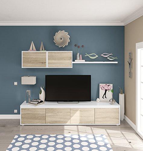 Habitdesign 0F6663A - Mueble de salón moderno c3ce8d942c5f