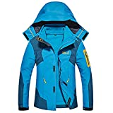 HAINES Giacca Impermeabile Donna Outdoor Trekking Montagna 3 in 1 Softshell Giacca Vento con Cappuccio