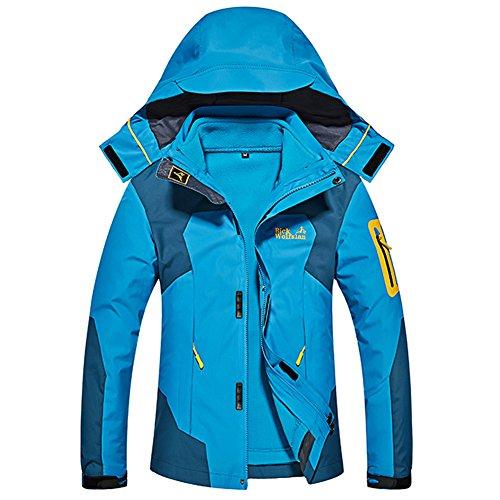 Softshelljacke Damen Outdoorjacke Wasserdicht Atmungsaktiv Funktionsjacke 3 in 1 Jacke Warm Doppeljacke Wanderjacke