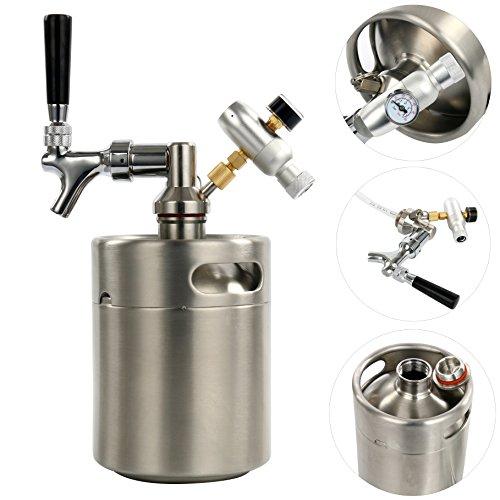 YaeBrew 64 Unze Homebrew Bierbraugerät Brauautomat Fass System Kit für Home Brew Bier (Kit Bier)