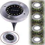 Trada Solar Bodenleuchten, Sonnenenergie begrabener Heller Boden mit Outdoor Pfad Garten Decking der Lampe 16 LED Solarleuchten Garten Solar Garten in-Boden-Lichter