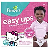 Pampers Easy Ups Training Underwear Girls 4T-5T (Size 6), 60 Count by Pampers