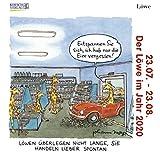 Löwe Mini 2020: Sternzeichenkalender-Cartoon - Minikalender im praktischen quadratischen Format 10 x 10 cm.