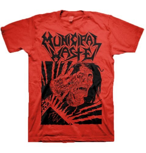 Municipal Waste - Uomo Skelbot T-Shirt In Rosso, XX-Large, Rosso