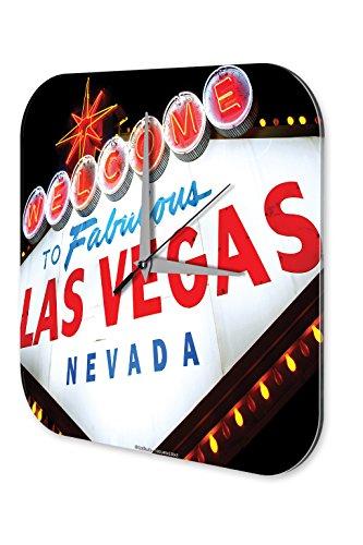 Preisvergleich Produktbild Wanduhr Reisen Küchen Deko Las Vegas Nevada Acryl Wand Uhr