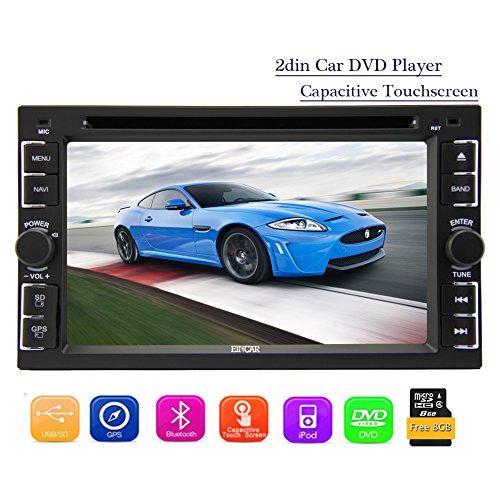 Eincar 2 Din 6,2 pouces voiture Autoradio stéréo HD capacitif multi-écran tactile de soutien de l'unité principale du système DVD Lecteur CD AM FM Radio Multimedia Win8 Autoradio Bluetooth Ipod USB / SD Aux Steer Fonction de roue + Télécommande