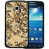 Funda Samsung Galaxy Express 2, WoowCase [ Samsung Galaxy Express 2 ] Funda Silicona Gel Flexible Camuflaje Militar Beige, Carcasa Case TPU Silicona - Negro