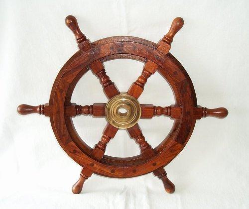 Timón, Barco Timón hecho mano alta calidad Madera