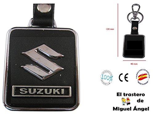 Llavero cuero y metal Suzuki