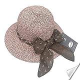 SIYWINA Donne Cappello della Spiaggia Pieghevole Floscio UPF 50+ Cappello da Sole Estate