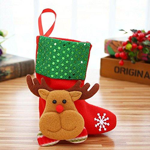 zreal Frohe Weihnachten Weihnachtsmann Handysocke Süßer Partyzubehör Ornamenten Festival Hanging Süßigkeiten rechteckig Weihnachtsbaum Dekoration