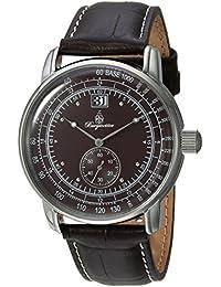 Burgmeister Reloj de cuarzo para hombres con color marrón esfera analógica y pulsera de piel marrón bm333 – 195