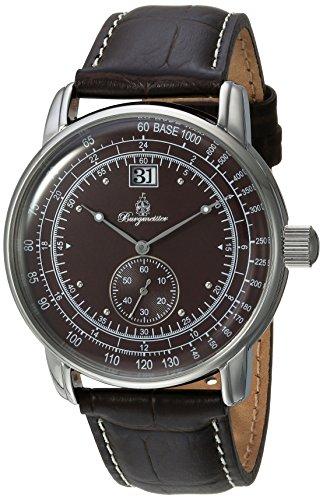 Burgmeister Herren Analog Quarz Uhr mit Leder Armband BM333-195