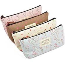HmgSea Pastorable Canvas Pen Bag Pencil Case, Brand New, Different Colors,Set Of 4