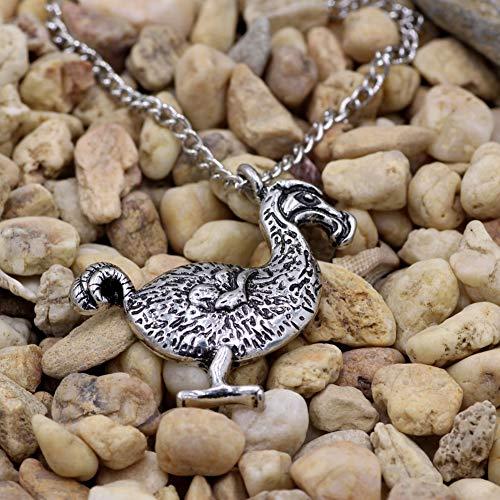 Adult Bird Kostüm Big - DADATU Halsketten für Herren Big Dodo Bird Halskette Sliver Dodo Bird Pendant Halskette Alice Im Wunderland Schmuck Bird Halskette Exotic Birds