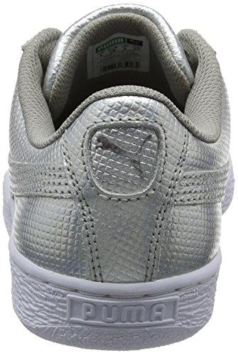 Puma Basket Classic Holographic, Sneakers Basses Mixte Adulte Gris (Puma Silver 02)