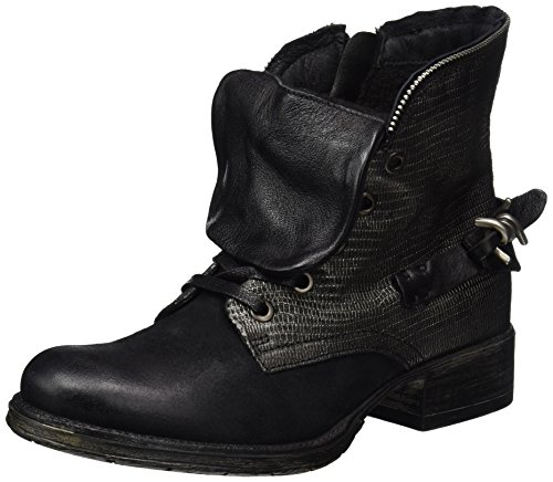 Mjus Damen 185618-0101-6002 Combat Boots, Schwarz (Nero), 37 EU