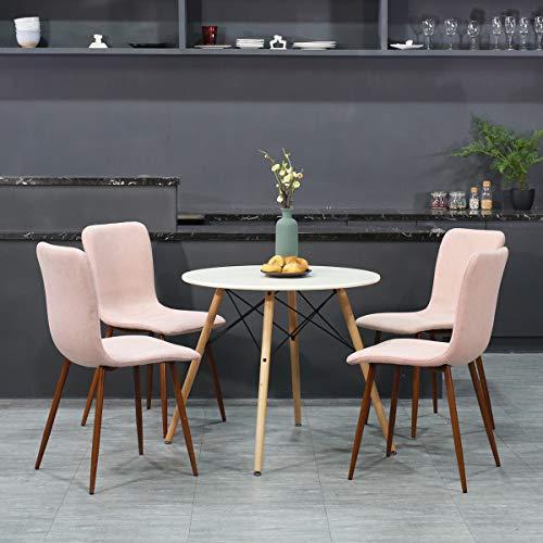 coavas Sedie da Pranzo Set di 4 sedie da Tavolo con Cuscino in ...