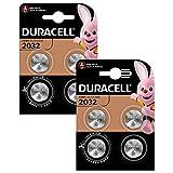 Duracell Specialty 2032 Lithium-Knopfzelle 3V (CR2032 /DL2032 entwickelt für die Verwendung in Schlüsselanhängern, Waagen, Wearables und medizinischen Geräten, 8er-Packung)